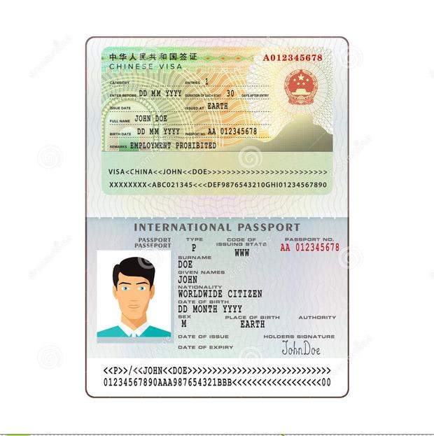 مدارک مورد نیاز ویزای چین