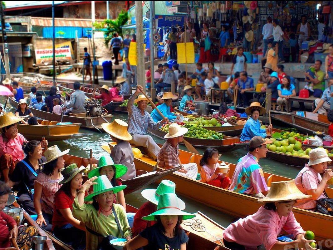 بازار-شناور-تایلند