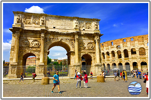 کولوسئوم-و-طاق-کنستانتین-(the-colosseum-and-the-arch-of-constantine)
